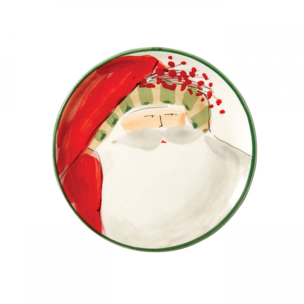Old St. Nick Assorted Canape Plates - Set of 4 , Christmas - Vietri, Pezzo Bello  - 5