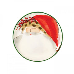 Old St. Nick Assorted Canape Plates - Set of 4 , Christmas - Vietri, Pezzo Bello  - 4