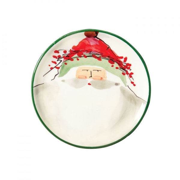 Old St. Nick Assorted Canape Plates - Set of 4 , Christmas - Vietri, Pezzo Bello  - 3