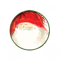Old St. Nick Assorted Canape Plates - Set of 4 , Christmas - Vietri, Pezzo Bello  - 2