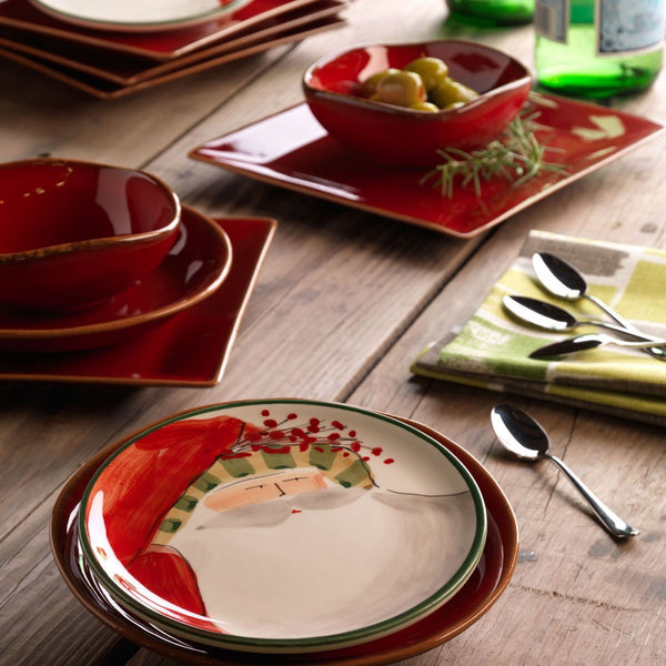 Old St. Nick Assorted Canape Plates - Set of 4 , Christmas - Vietri, Pezzo Bello  - 6
