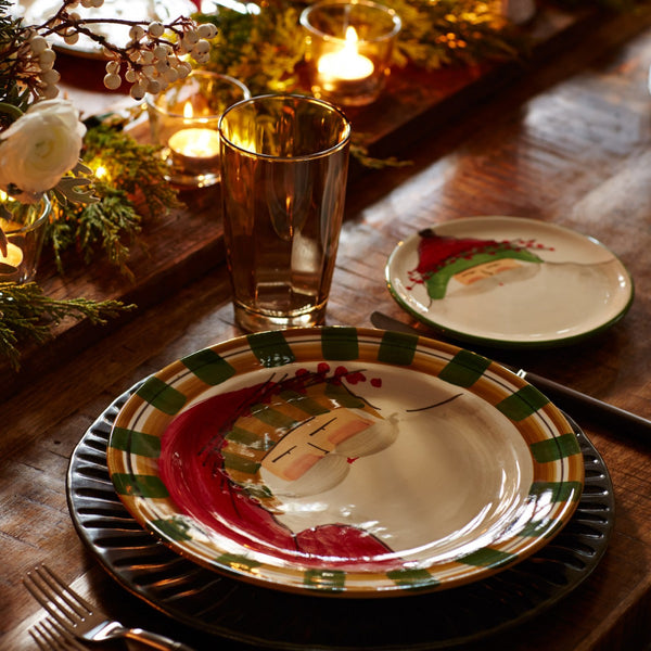 Old St. Nick Assorted Canape Plates - Set of 4 , Christmas - Vietri, Pezzo Bello  - 7
