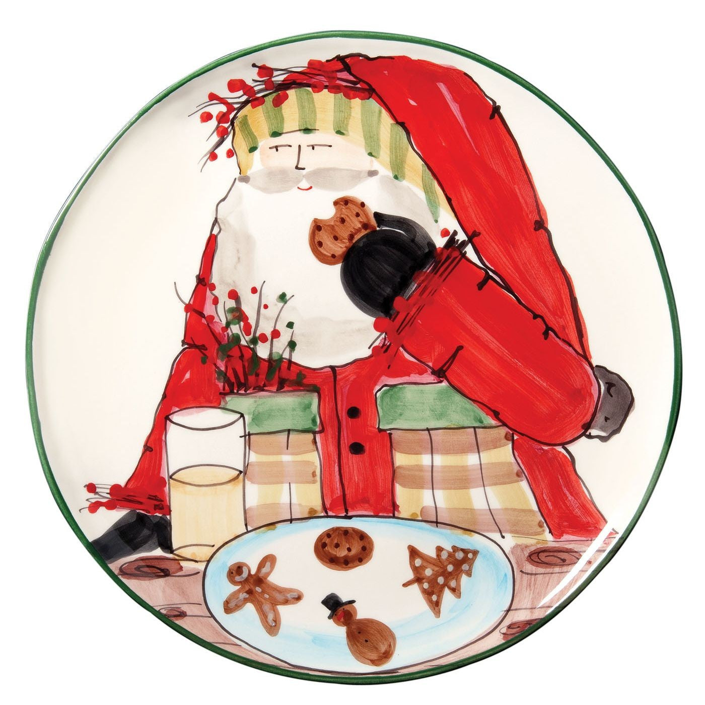 Old St. Nick Cookie Platter , Christmas - Vietri, Pezzo Bello