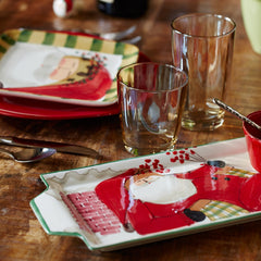 Old St. Nick Handled Rectangular Santa Platter , Christmas - Vietri, Pezzo Bello  - 2