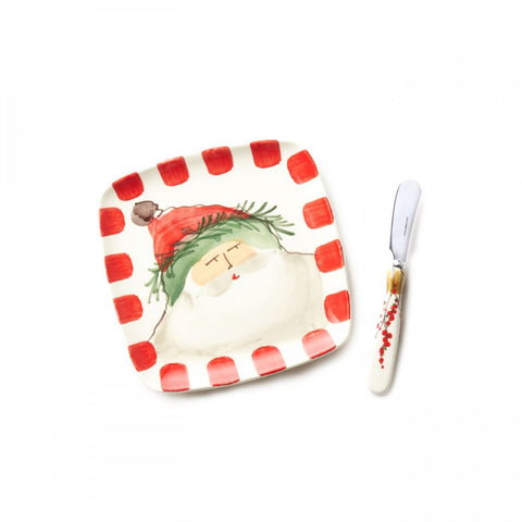 Old St. Nick Plate with Spreader