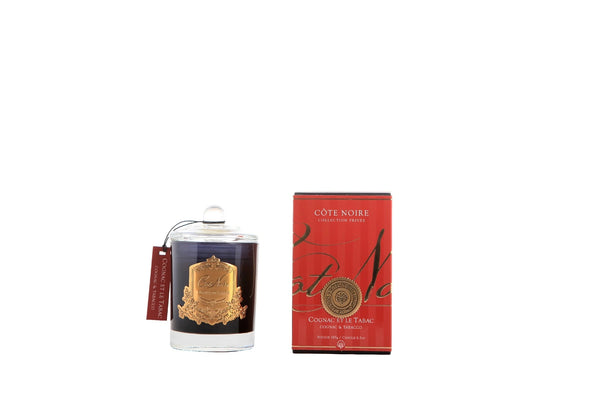 Cote Noire Gold Badge Candles - Cognac & Tobacco Fragrance