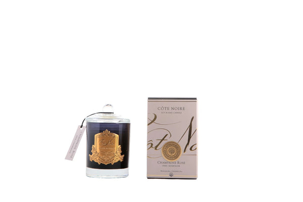 Cote Noire Gold Badge Candles - Pink Champagne Fragrance