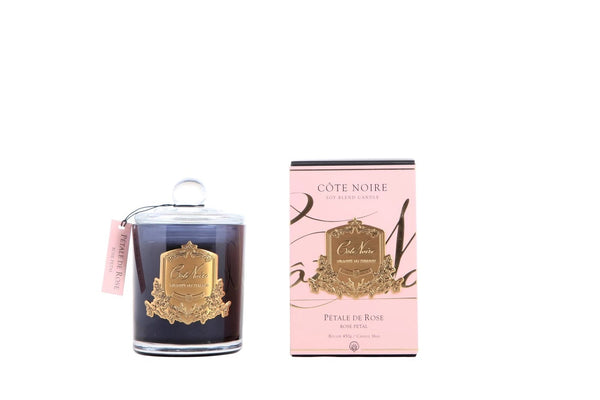 Cote Noire Gold Badge Candles - Rose Petal Fragrance