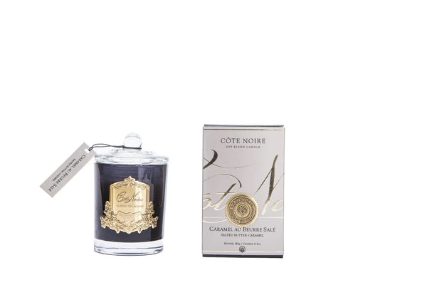 Cote Noire Gold Badge Candles - Salted Butter Caramel Fragrance