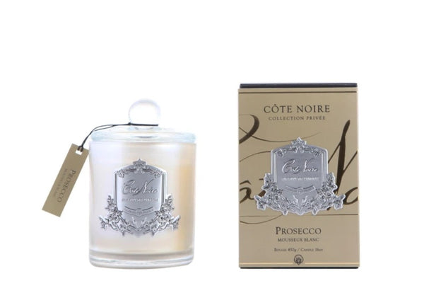 Cote Noire Silver Badge Candles - Prosecco Fragrance