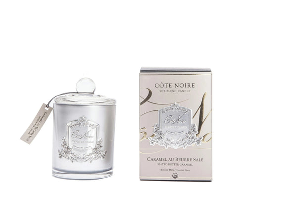 Cote Noire Silver Badge Candles - Salted Butter Caramel Fragrance