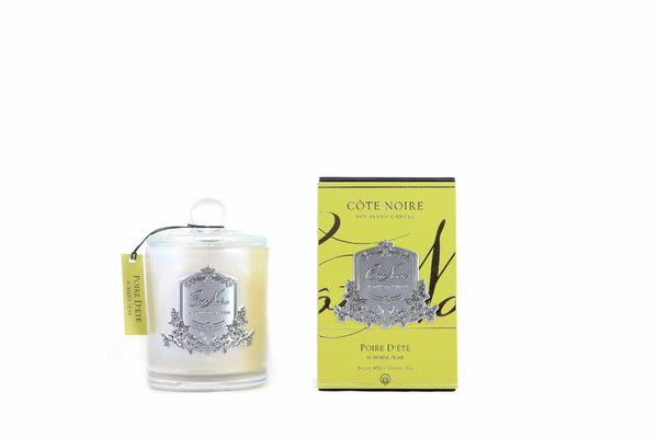 Cote Noire Silver Badge Candles - Summer Pear Fragrance