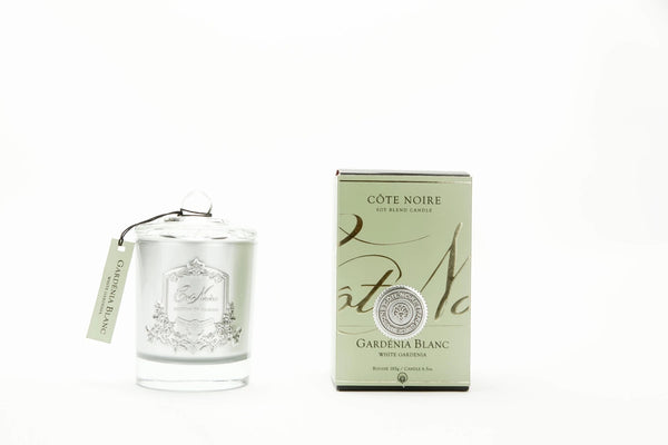 Cote Noire Silver Badge Candles - White Garden Fragrance