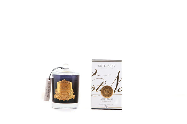 Cote Noire Gold Badge Candles - White Garden Fragrance