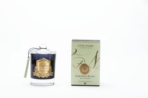 Cote Noire Gold Badge Candles - White Gardenia Fragrance