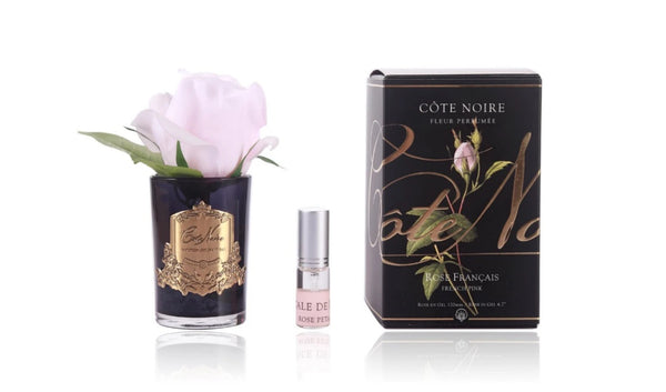Cote Noire Perfumed Natural Touch Single Rose Bud - Black Base