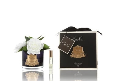 Cote Noire Perfumed Natural Touch Triple Gardenias - Black Base