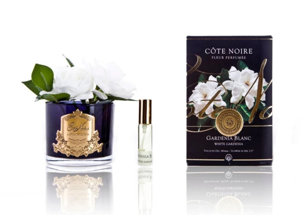 Cote Noire Perfumed Natural Touch Double Gardenias - Black Base