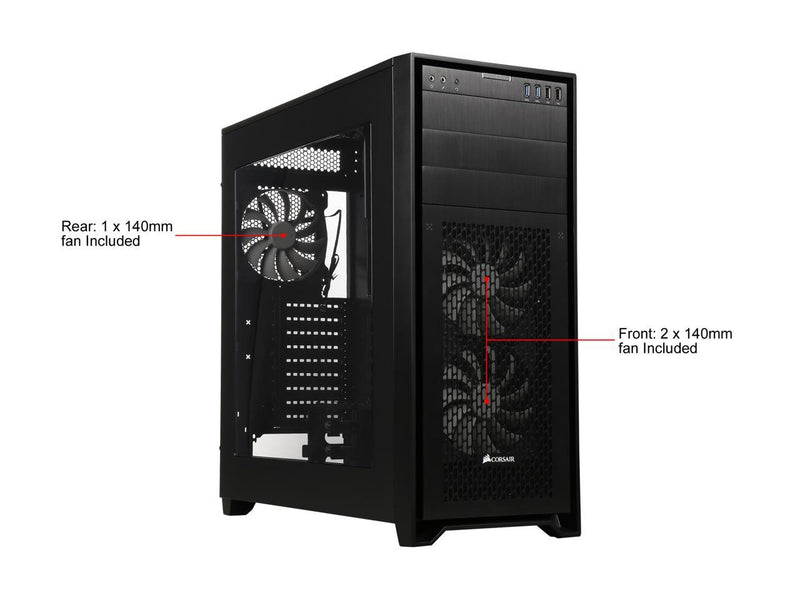 Corsair Obsidian Series 750D Airflow CC-9011078-WW Black Brushed Aluminum and Steel ATX Full Tower Computer Case