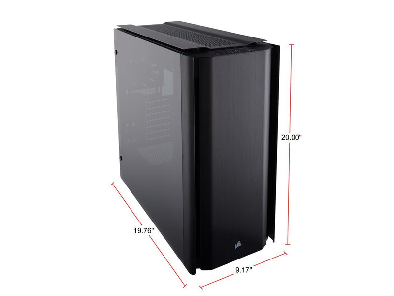 Corsair Obsidian 500D CC-9011116-WW Black Aluminum / Tempered Glass ATX Mid Tower Computer Case