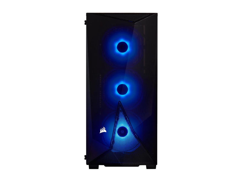 CORSAIR Carbide Series SPEC-DELTA RGB Tempered Glass Mid-Tower ATX Gaming Case, Black - CC-9011166-WW