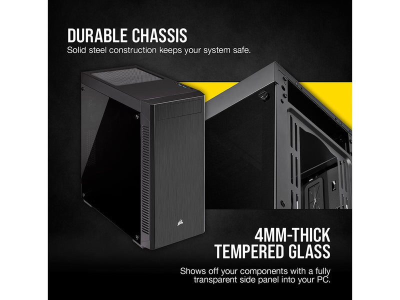 Corsair Carbide Series 110R CC-9011183-WW Black Steel / Plastic / Tempered Glass ATX Mid Tower Computer Case