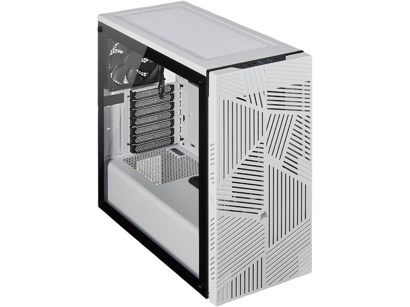Corsair 275R Airflow CC-9011182-WW White Steel / Plastic / Tempered Glass ATX Mid Tower Computer Case