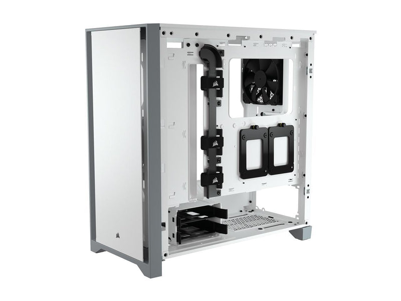 Corsair 4000D CC-9011199-WW White Steel / Plastic / Tempered Glass ATX Mid Tower Computer Case