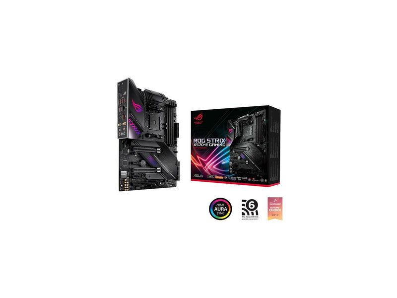 ASUS AMD AM4 ROG Strix X570-E Gaming ATX Motherboard with PCIe 4.0, WiFi 6, 2.5Gbps LAN, Dual M.2, SATA 6Gb/s, USB 3.2 Gen 2