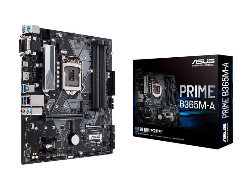 ASUS PRIME B365M-A LGA-1151 Support 9th/8th Gen Intel Processor with Aura Sync RGB Header, DDR4 2666 MHz, M.2 Support, HDMI, SATA 6Gbps mATX Motherboard