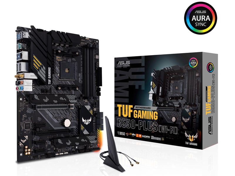 ASUS TUF GAMING B550-PLUS (WI-FI) AM4 AMD B550 SATA 6Gb/s ATX AMD Motherboard