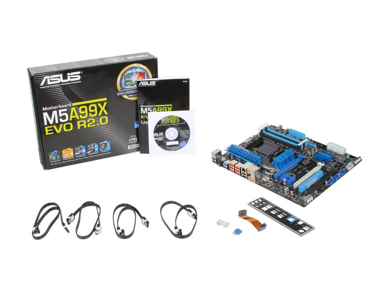 ASUS M5A99X EVO R2.0 AM3+ AMD 990X + SB950 SATA 6Gb/s USB 3.0 ATX AMD Motherboard with UEFI BIOS