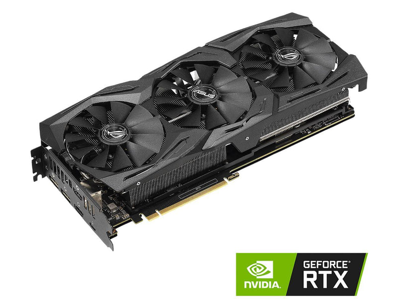 ASUS ROG Strix GeForce RTX 2070 DirectX 12 ROG-STRIX-RTX2070-O8G-GAMING 8GB 256-Bit GDDR6 PCI Express 3.0 HDCP Ready Video Card