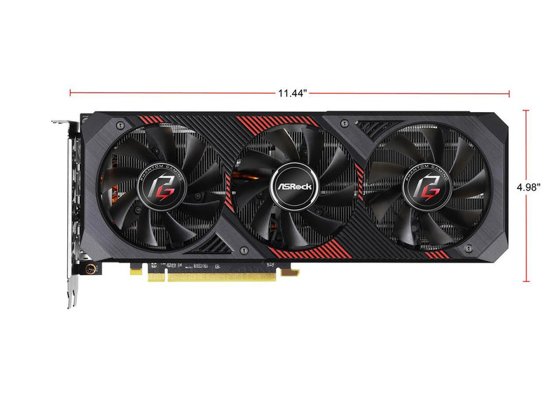 ASRock Phantom Gaming D3 Radeon RX 5600 XT RX5600XT PGD3 6GO 6GB (14Gbps) 192-Bit GDDR6 PCI Express 4.0 x16 HDCP Ready Video Card