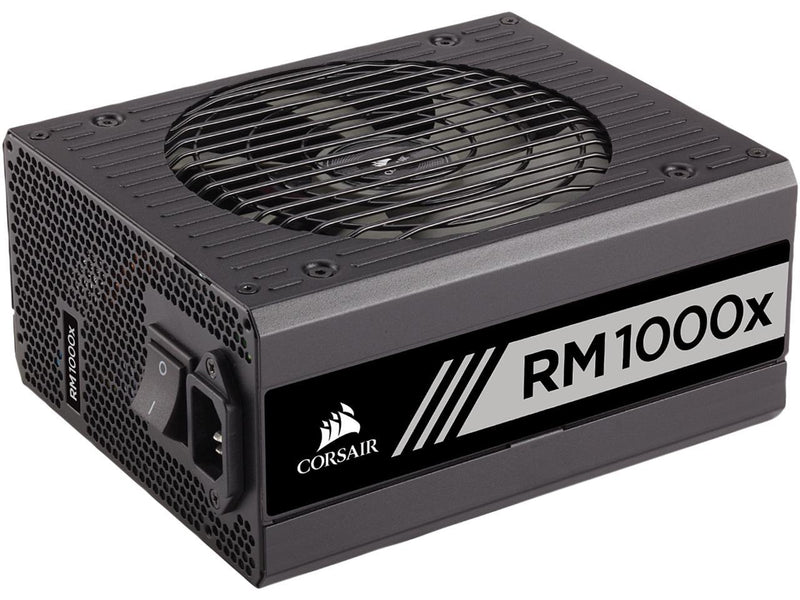 CORSAIR RMx Series RM1000X 1000W 80 PLUS GOLD Haswell Ready Full Modular ATX12V & EPS12V Power Supply SLI and Crossfire Ready, CP-9020094-NA