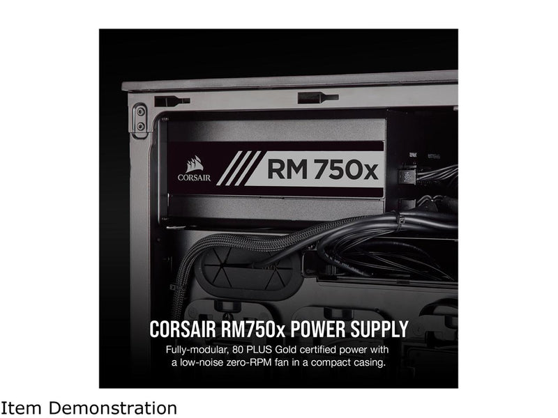 CORSAIR RMx Series RM750x CP-9020179-NA 750W ATX12V / EPS12V 80 PLUS GOLD Certified Full Modular Power Supply