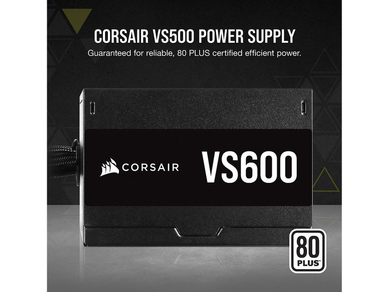 CORSAIR VS Series VS600 600W 80 PLUS Certified Non-Modular ATX Power Supply, CP-9020224-NA