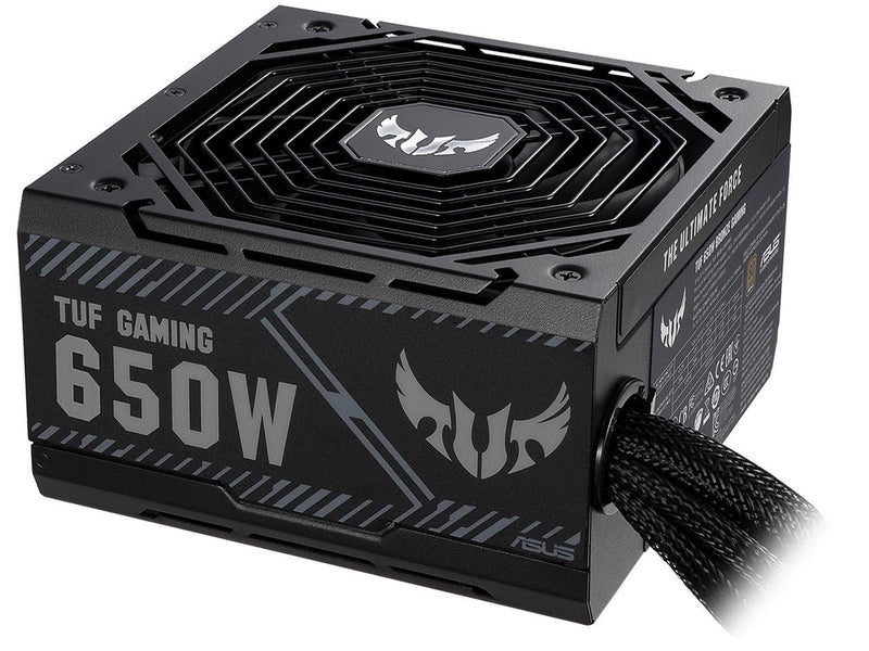 ASUS TUF GAMING 650W Bronze PSU, Power Supply, Axial-tech Fan Design, Dual Ball Fan Bearings, 0dB Technology, 80 PLUS Bronze Certification, 80cm 8-pin CPU Connector, 6-year Warranty