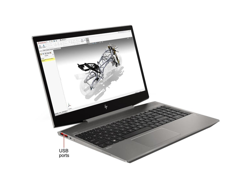 "HP ZBook 15v G5 15.6"" Touchscreen Mobile Workstation - 1920 x 1080 - Core i7 i7-9750H - 16 GB RAM - 512 GB SSD - Turbo Silver - Windows 10 Pro 64-bit - NVIDIA Quadro P620 with 4 GB, Intel UHD Gra"