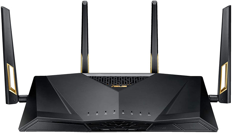 Asus RT-AX88U AX6000 Dual-Band Wifi Router, Aiprotection Lifetime Security by Trend Micro, Aimesh Compatible for Mesh WIFI System, Next-Gen Wifi 6, Wireless 802.11Ax, 8 X Gigabit LAN Ports