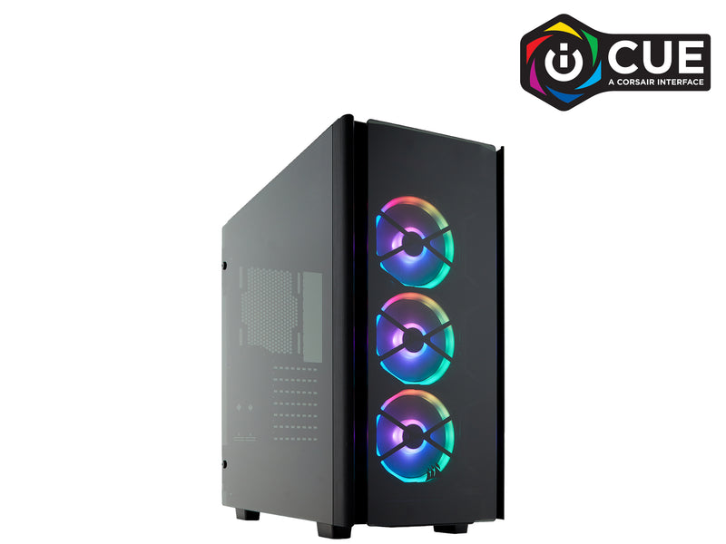 CORSAIR Obsidian Series 500D RGB SE Mid Tower Case, Premium Tempered Glass and Aluminum, LL120 Fans and Commander PRO Included CC-9011139-WW