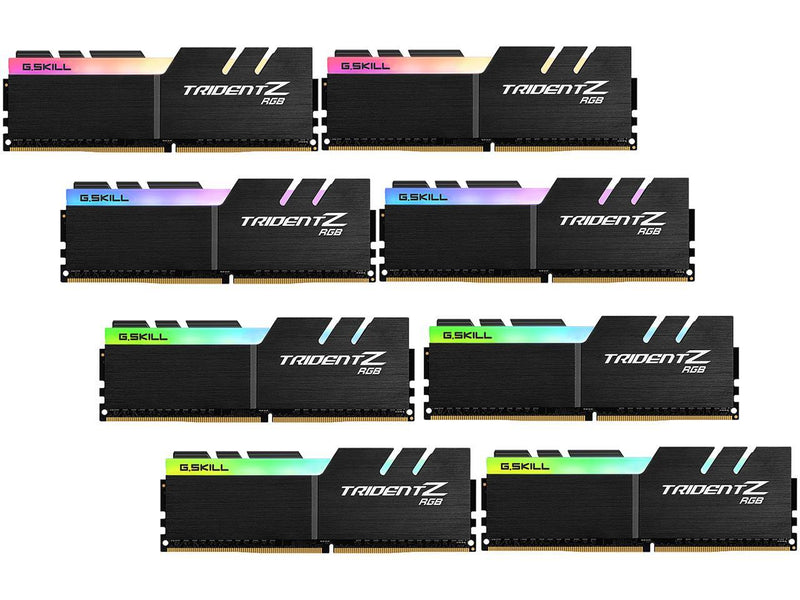 G.SKILL TridentZ RGB Series 128GB (8 x 16GB) 288-Pin DDR4 SDRAM DDR4 3600 (PC4 28800) Intel X299 Desktop Memory Model F4-3600C17Q2-128GTZR