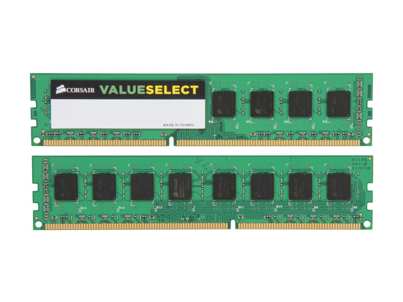 CORSAIR ValueSelect 8GB (2 x 4GB) 240-Pin DDR3 SDRAM DDR3 1333 (PC3 10600) Desktop Memory Model CMV8GX3M2A1333C9