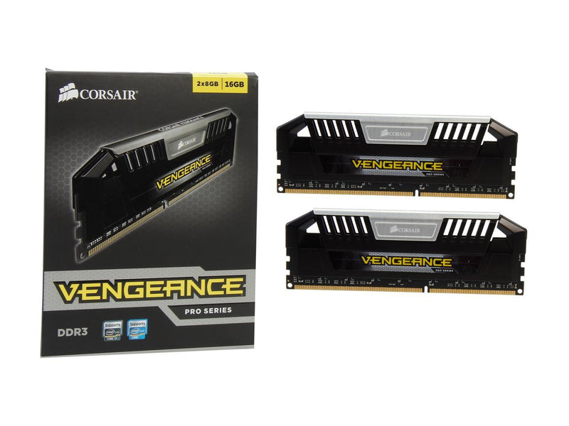 CORSAIR Vengeance Pro 16GB (2 x 8GB) 240-Pin DDR3 SDRAM DDR3 1600 (PC3 12800) Desktop Memory Model CMY16GX3M2A1600C9 (Silver)