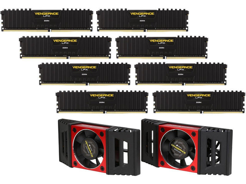 CORSAIR Vengeance LPX 128GB (8 x 16GB) 288-Pin DDR4 SDRAM DDR4 3800 (PC4 30400) Desktop Memory Model CMK128GX4M8X3800C19