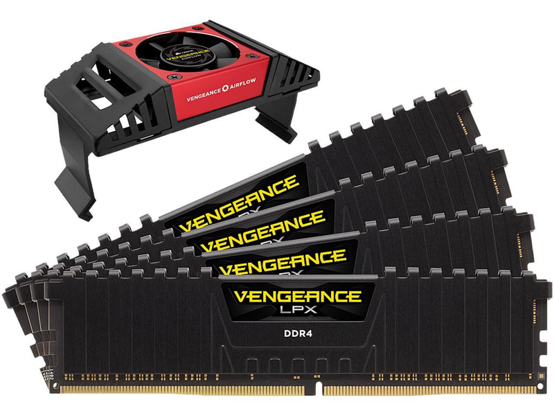 CORSAIR Vengeance LPX 32GB (4 x 8GB) 288-Pin DDR4 SDRAM DDR4 4133 (PC4 33000) Desktop Memory Model CMK32GX4M4K4133C19