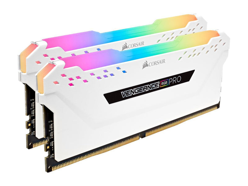 CORSAIR Vengeance RGB Pro 16GB (2 x 8GB) 288-Pin DDR4 DRAM DDR4 3000 (PC4 24000) Desktop Memory Model CMW16GX4M2C3000C15W