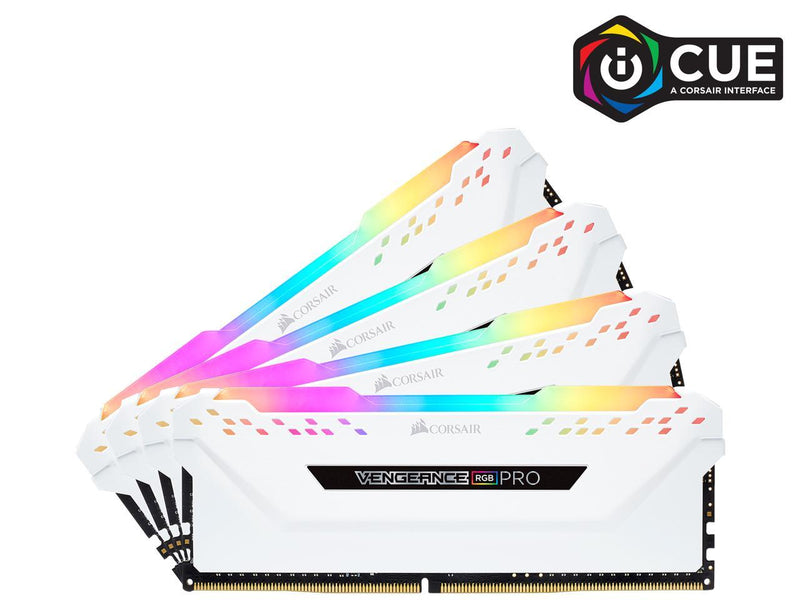 CORSAIR Vengeance RGB Pro 64GB (4 x 16GB) 288-Pin DDR4 SDRAM DDR4 2666 (PC4 21300) Desktop Memory Model CMW64GX4M4A2666C16W