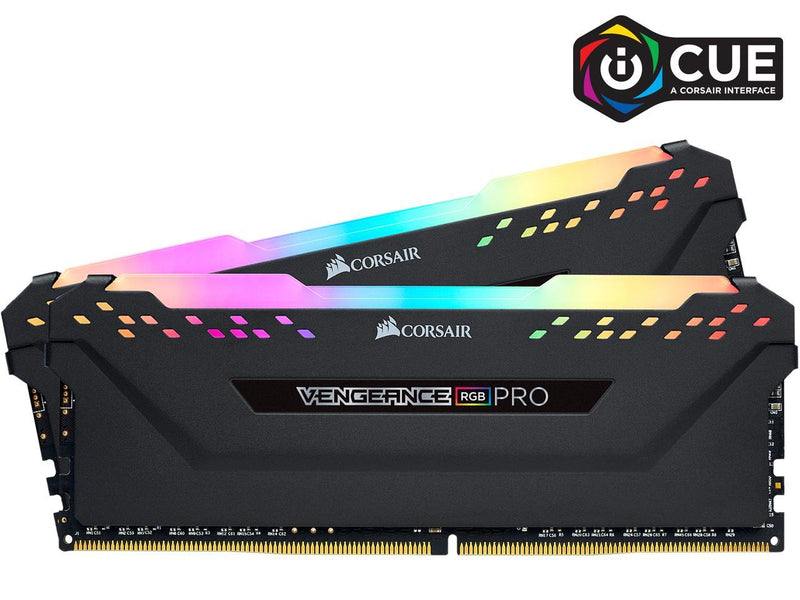 CORSAIR Vengeance RGB Pro (AMD Ryzen Ready) 32GB (2 x 16GB) 288-Pin DDR4 2933 (PC4 23400) Desktop Memory Model CMW32GX4M2Z2933C16