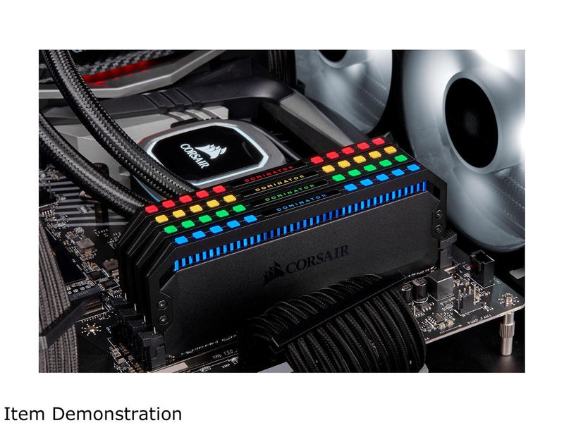 CORSAIR Dominator Platinum RGB 64GB (4 x 16GB) 288-Pin DDR4 SDRAM DDR4 3200 (PC4 25600) Desktop Memory Model CMT64GX4M4C3200C16